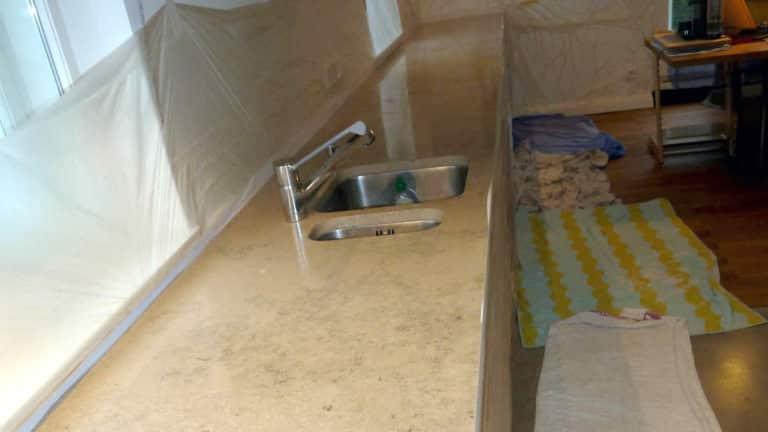 Küchenarbeitsplatte vorher