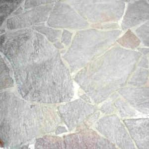 Porphyr Terrasse Zementschleier