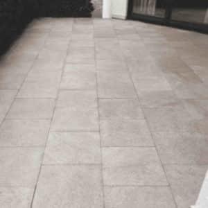 Terrasse Granit gereinigt mit Karbo
