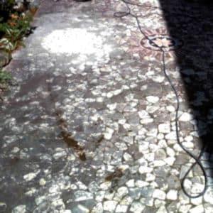 Terrasse Marmor reinigen