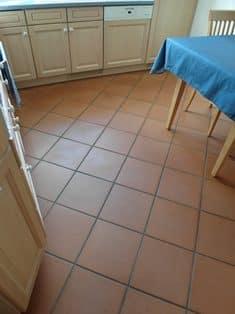 Terracotta in der Küche
