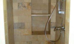 Solnhofener Dusche gereinigt, desinfiziert und imprägniert