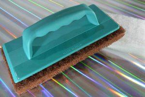 SteinDino Handpadhalter mit Reinigungspad